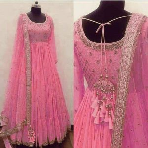 Suit Georgette with Embroider Work (Pink Color)